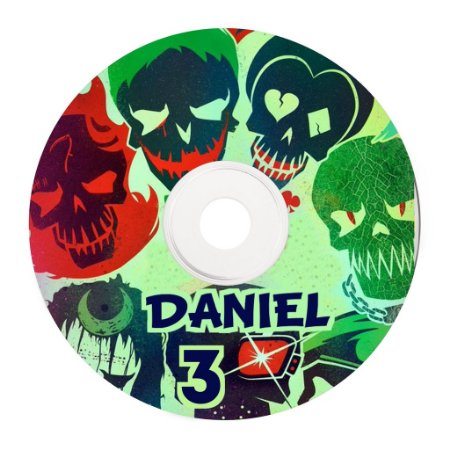 Rótulo adesivo CD/DVD - Esquadrão Suicida