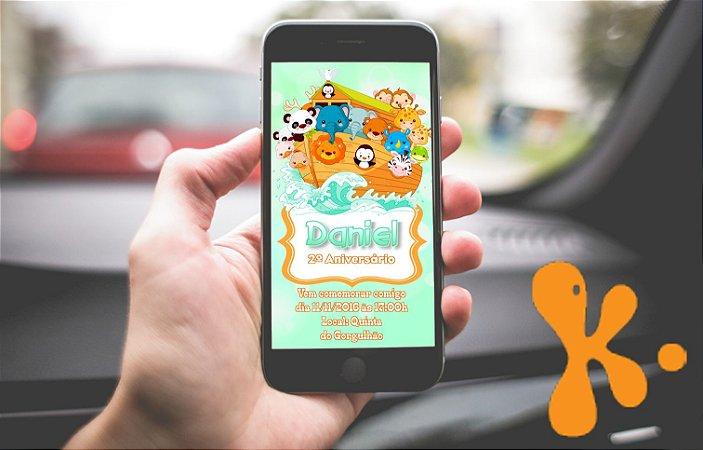 Convite personalizado para Whatsapp Arca de Noé