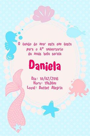 Convite digital personalizado Sereia 013