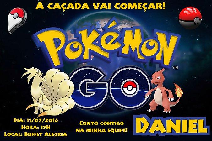 Convite digital personalizado Pokémon GO 023