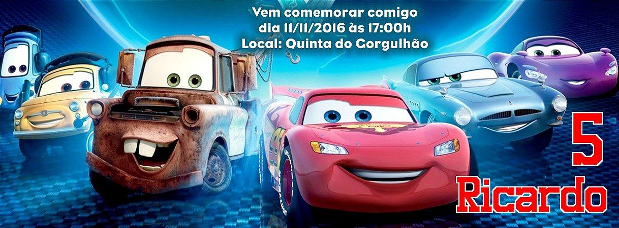 Convite personalizado para evento no facebook Carros da Disney
