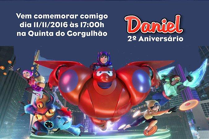Convite digital personalizado Operação Big Hero 010