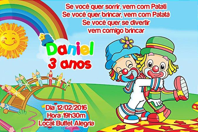 Convite digital personalizado Patati Patata 010