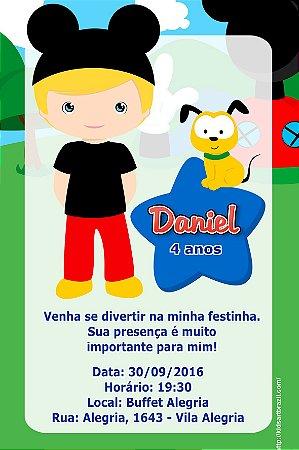 Convite digital personalizado A Casa do Mickey Mouse  016
