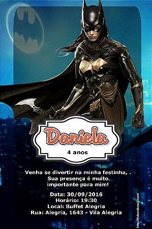 Convite digital personalizado Batgirl ou Batmoça 001