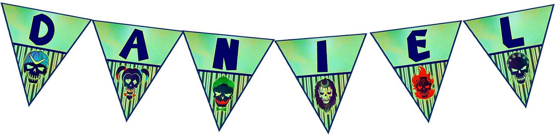 Bandeirinha Personalizada Esquadrão Suicida