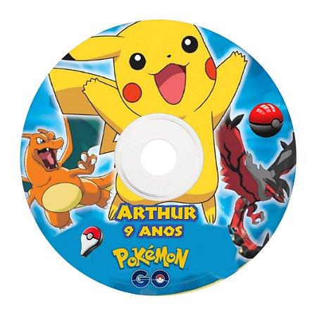 Rótulo adesivo CD/DVD - Pokémon GO