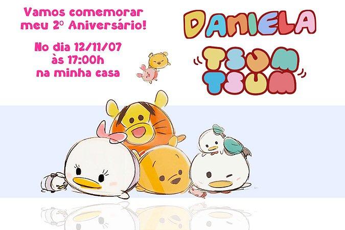 Convite digital personalizado Tsum Tsum 004