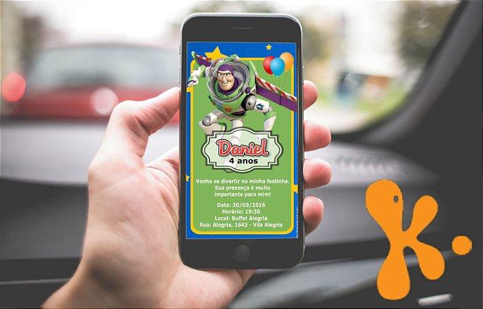 Convite personalizado para WhatsApp Buzz Lightyear