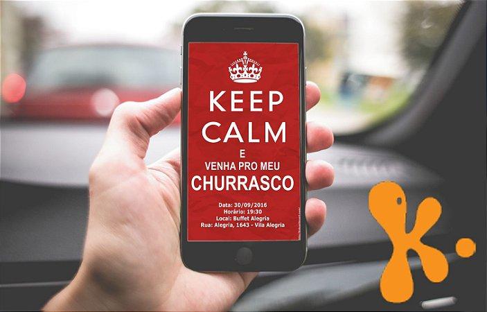 Convite personalizado para WhatsApp Churrasco