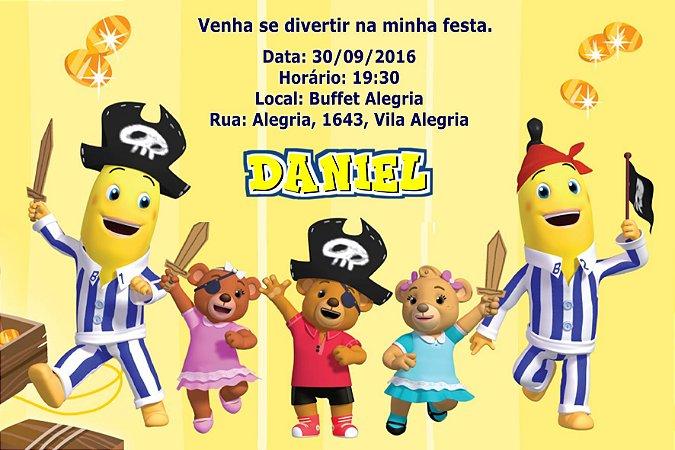 Convite digital personalizado Bananas de Pijamas 006
