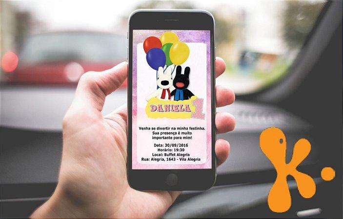 Convite personalizado para WhatsApp Gaspard e Lisa