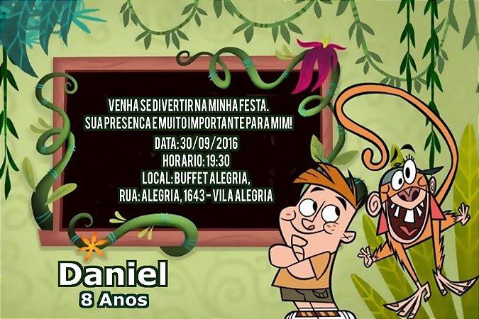 Convite digital personalizado Meu Amigo da Escola e um Macaco 005