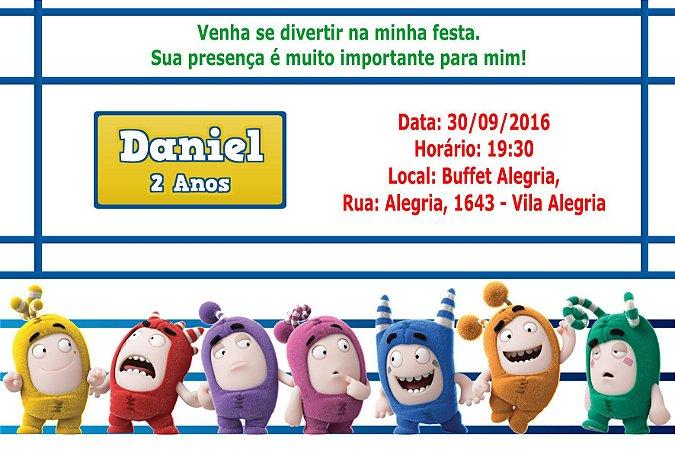 Convite digital personalizado Oddbods 004