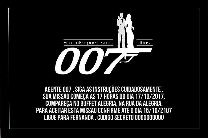 Convite digital personalizado Agente 007 - 001