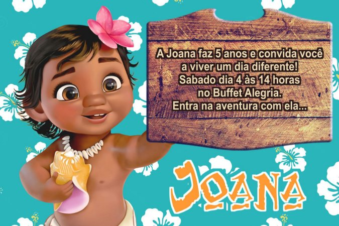 Convite digital personalizado Moana 003