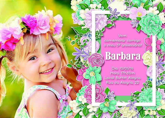 Convite digital personalizado Flores 001