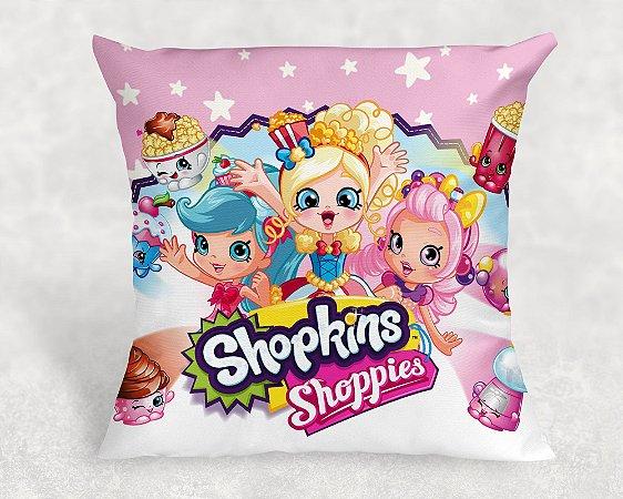 Almofada Personalizada para Festa Shopkins meninas
