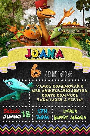 Convite digital personalizado Dinotrem 006