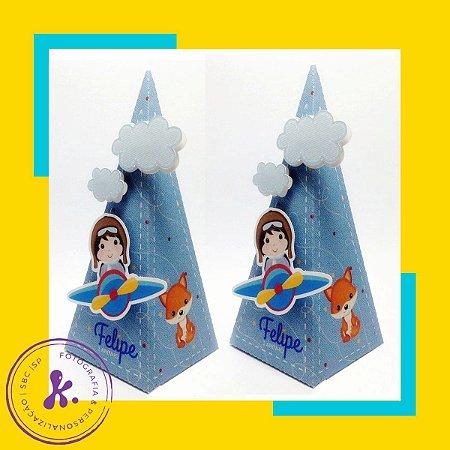 Caixa cone Pequeno Principe 3 com aplique 3D