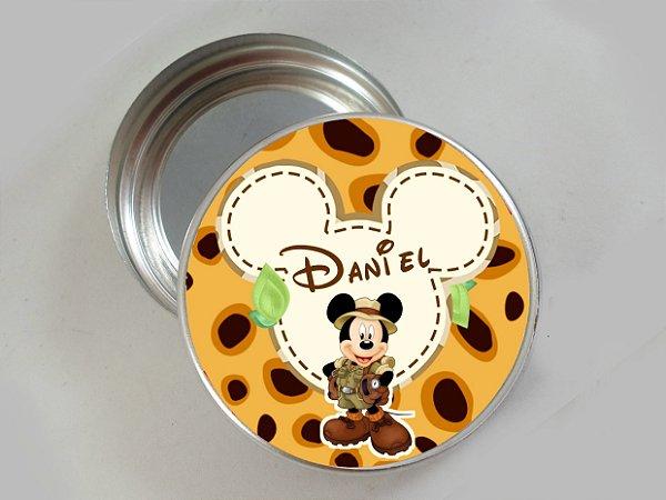 Embalagem com 20 adesivos Mickey Safari