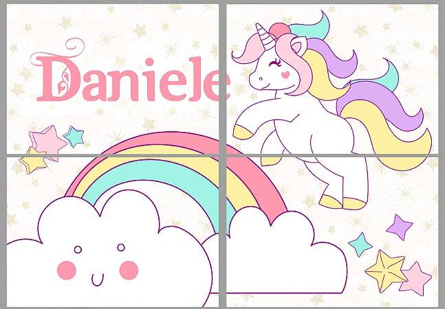 Painel personalizado Unicornio