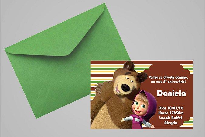 Convite 10x15 Masha e o Urso 003