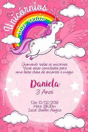Convite digital personalizado Unicornio 002