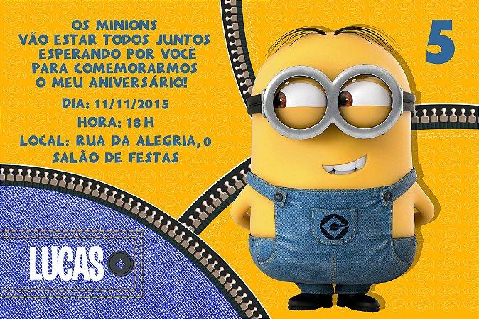 Convite digital personalizado Minions 020