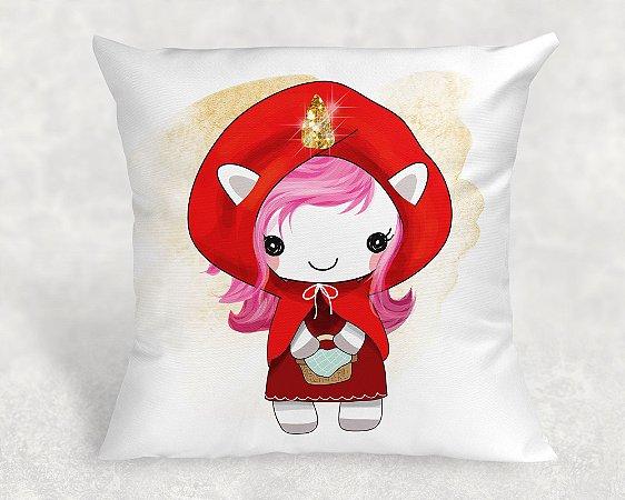 Almofada Personalizada para Festa Unicornio Chapeuzinho Vermelho 36