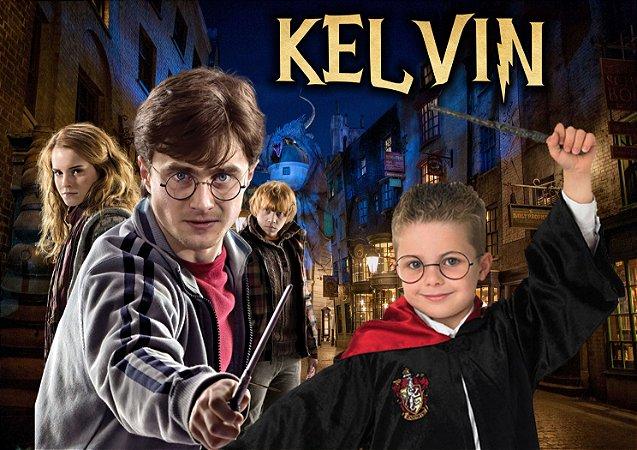 Painel TNT Harry Potter menino com foto