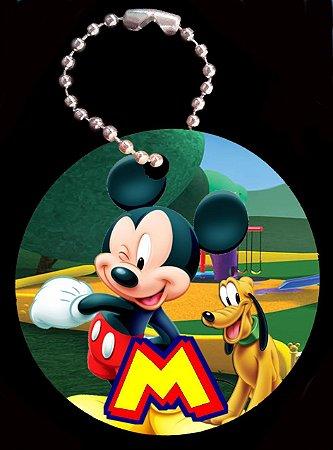 Tag com Correntinha 5 x 5 cm Mickey 2
