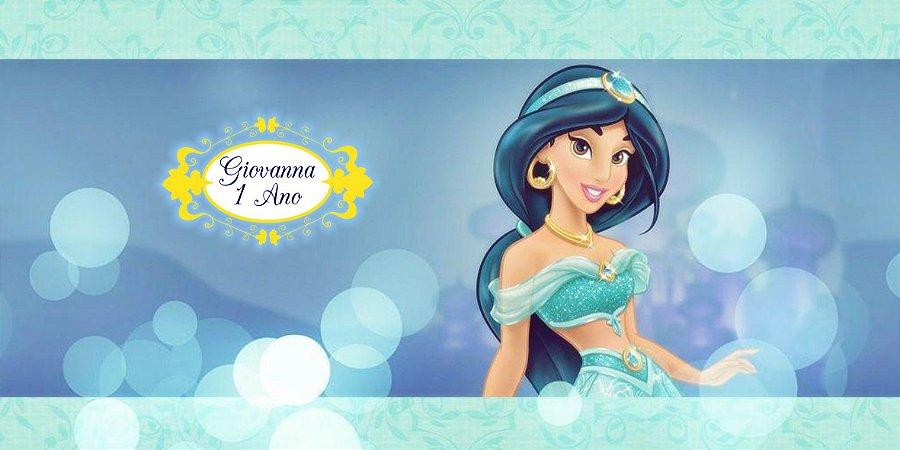 Adesivo para cofrinho personalizado Princesa Jasmine