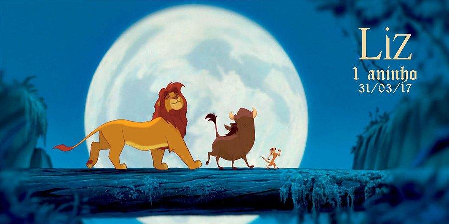 Adesivo para cofrinho personalizado Rei Leão