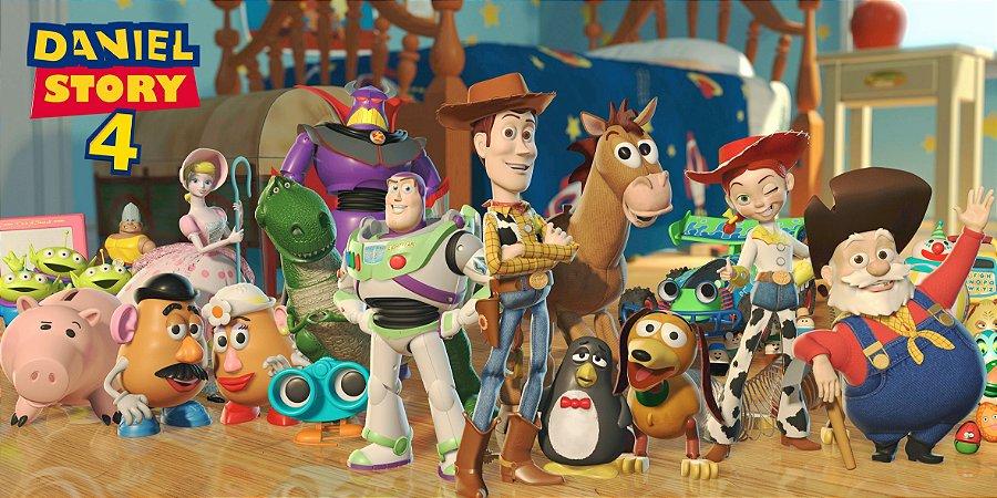 Adesivo para cofrinho personalizado Toy Story