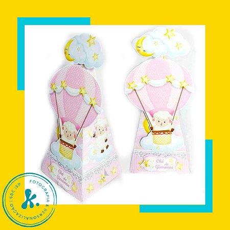 Caixa Cone ovelhinha rosa