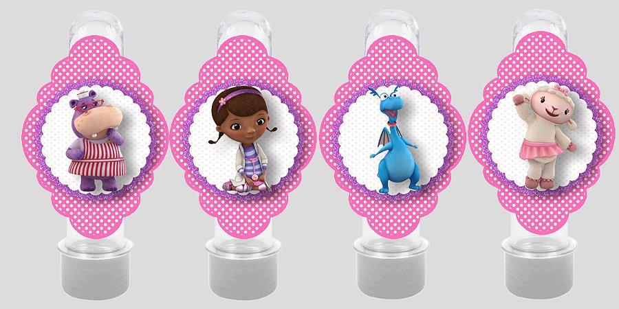 Embalagem com 8 apliques para Tubete Doutora Brinquedos
