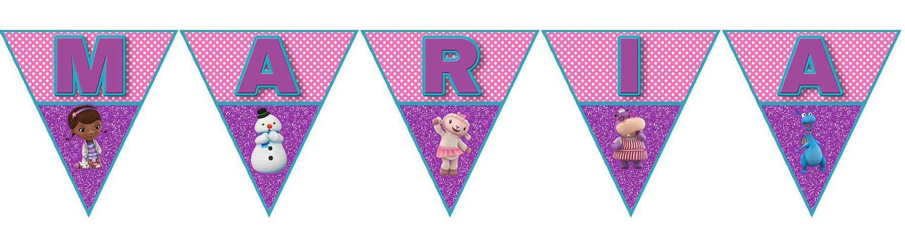 Bandeirinha Personalizada Doutora Brinquedos