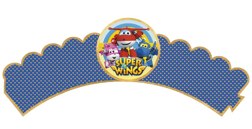 Pacote com 6 Wrappers personalizados Super Wings