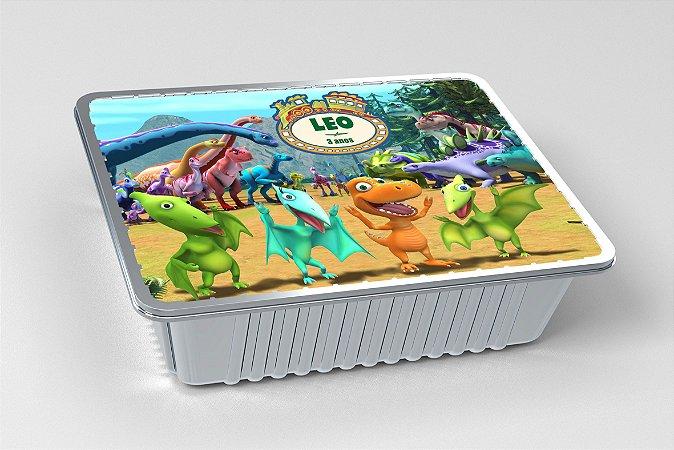 Tampa para marmitinha personalizada Dinotrem