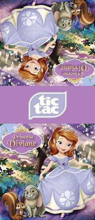 Adesivo personalizado para TicTac Princesa Sofia