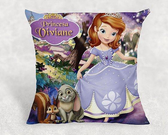 Almofada Personalizada para Festa Princesa Sofia