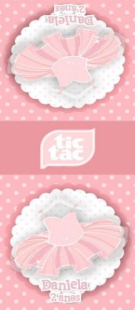 Adesivo personalizado para TicTac Bailarina