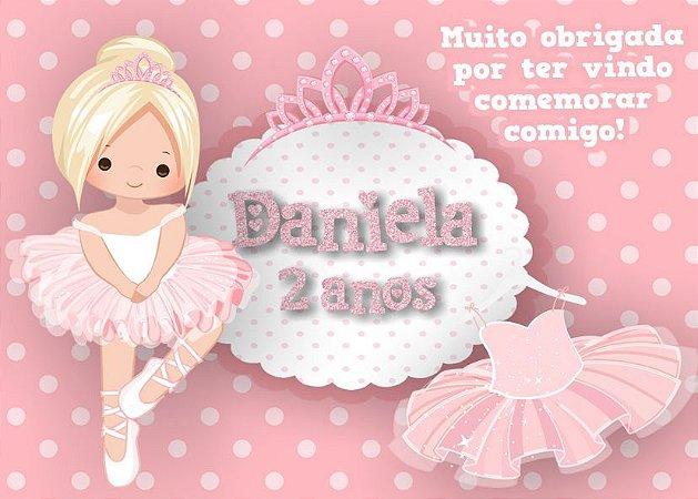 Cartão de Agradecimento Bailarina