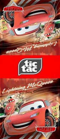 Adesivo personalizado para TicTac Carros da Disney