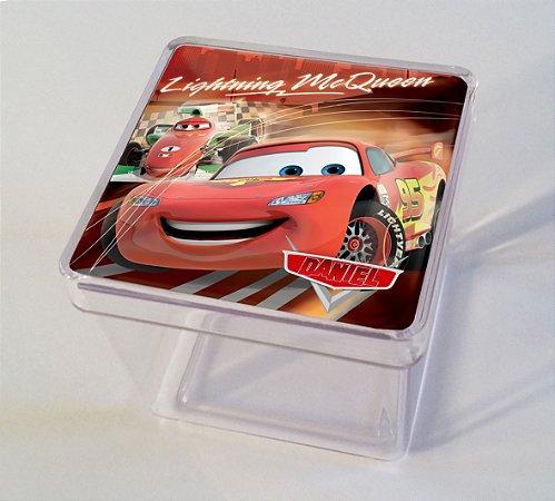 Adesivo caixinha acrílica 5x5cm Carros da Disney