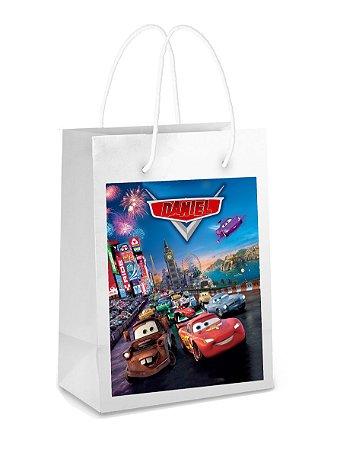Adesivo para sacolinha perdonalizado Carros da Disney