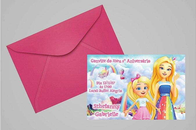 Convite 10x15 Barbie Dreamtopia 001