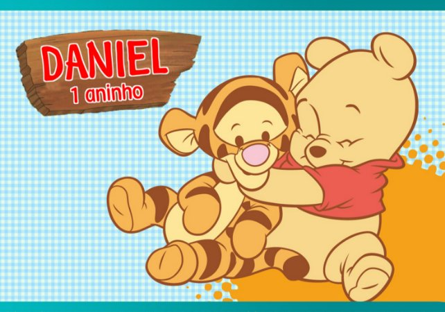 Painel TNT Baby Pooh 003
