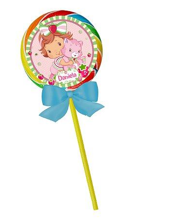 Adesivo personalizado para pirulito Baby Moranguinho